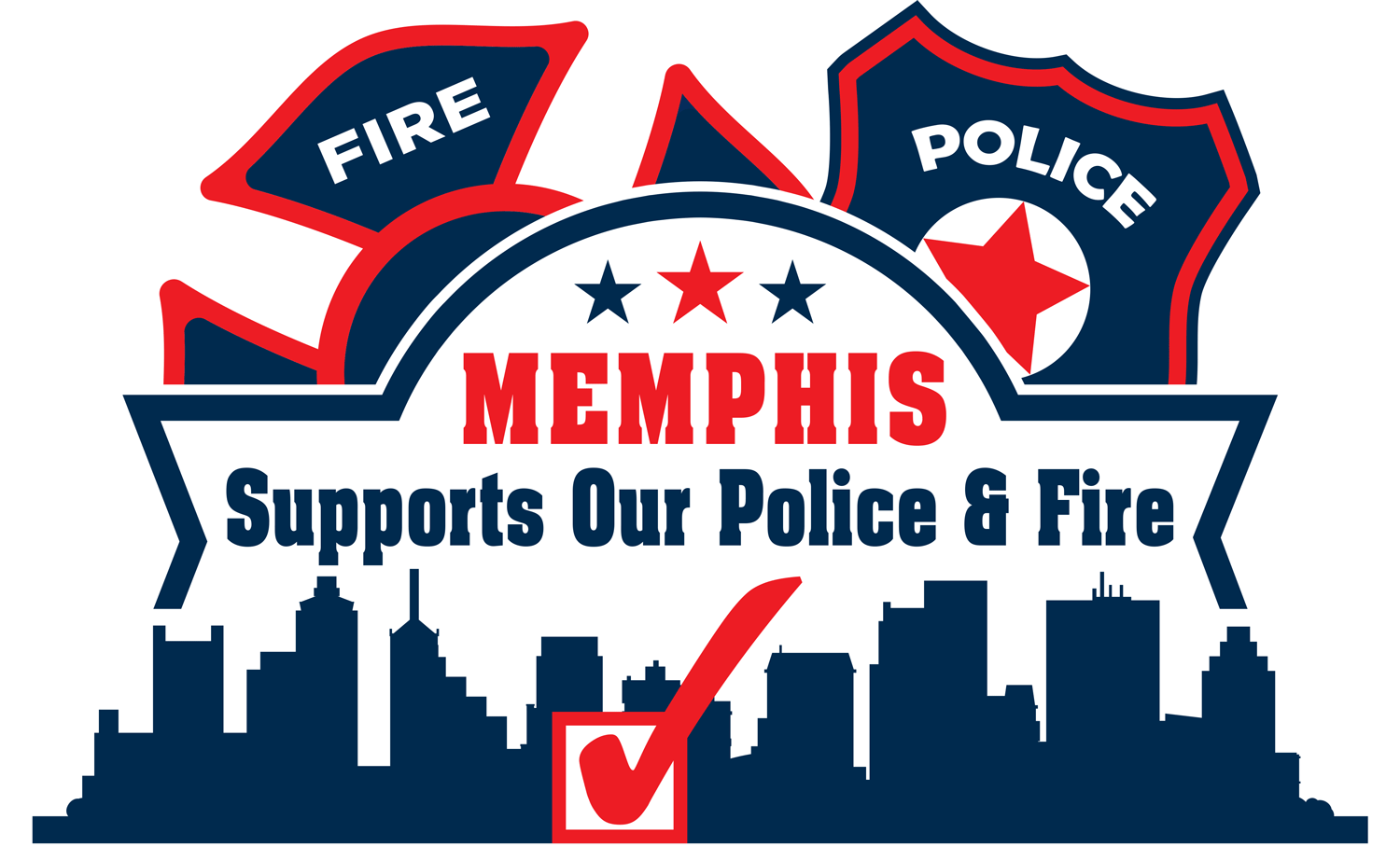 Support Memphis Police and Firefighters Campaign Logo